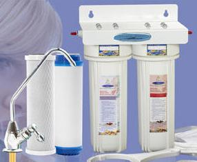 CRYSTAL QUEST MEGA Double Housing Undersink Water Filter System 7 ...